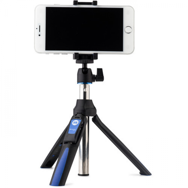 (Promotion) MeFoto MK10 2-in-1 Portable Selfie Stick with Mini Tripod (Blue)