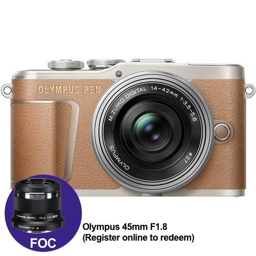 (Year End Promo) Olympus E-PL9 +  M.Zuiko 14-42mm EZ (Brown) [Free M.Zuiko 45mm F1.8 + Lexar 32GB 95MB SD Card + Benro Freeshoot 30 Camera Bag]