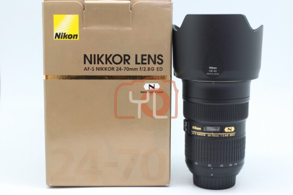 [USED-PUDU] Nikon 24-70MM F2.8 G AFS ED 90%LIKE NEW CONDITION SN:560939