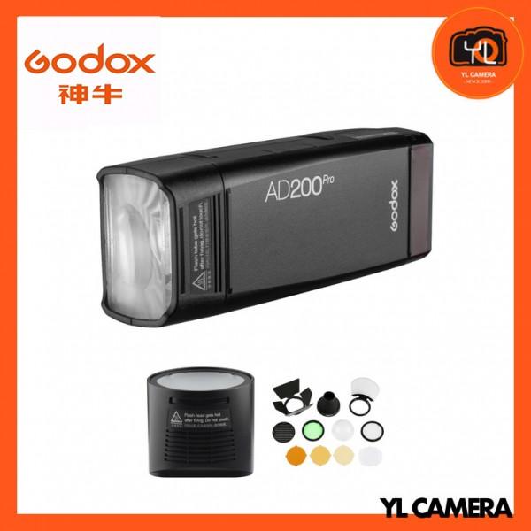 Godox AD200Pro TTL Pocket Flash Kit + H200R Round Flash Head and AK-R1 Combo Set