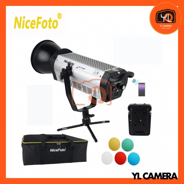 NiceFoto HA-3300B 330W 5500K Daylight COB LED Video Light Kit