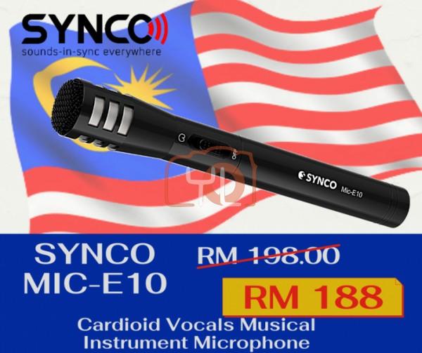 Synco Audio Mic-E10 Cardioid Vocals Musical Instrument MicrophoneSynco Audio Mic-E10 Cardioid Vocals Musical Instrument Microphone