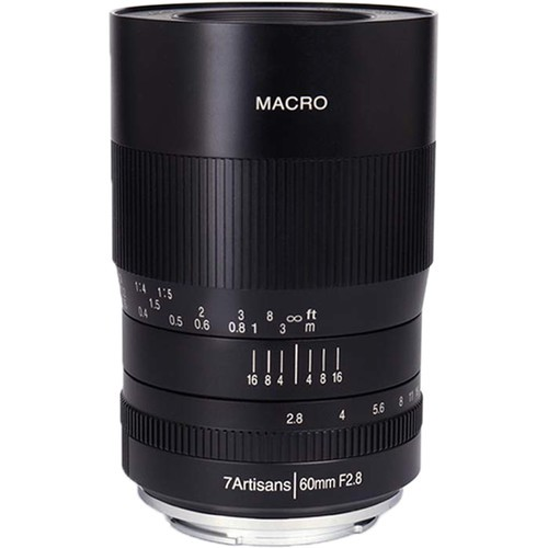 (Pre-Order) 7artisans 60mm F2.8 MACRO For Canon EOS-M (Black)