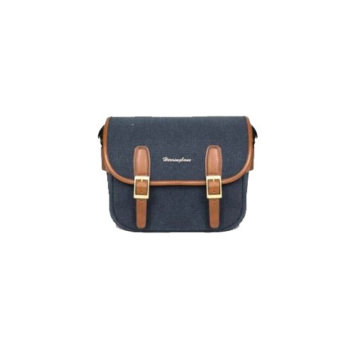 (SPECIAL DEAL) Herringbone Maniere Small Camera Bag (Navy)
