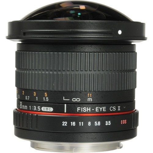 Samyang 8mm F3.5 HD Fisheye Lens for Canon EF Mount