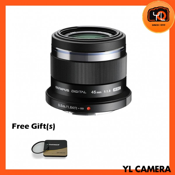 Olympus 45mm F1.8 M.Zuiko (Black) With Athabasca 37mm UV Filter