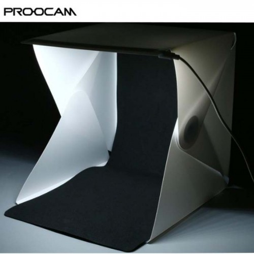 Proocam EASYGO 40cm Portable Studio Photo Light Tent with LED