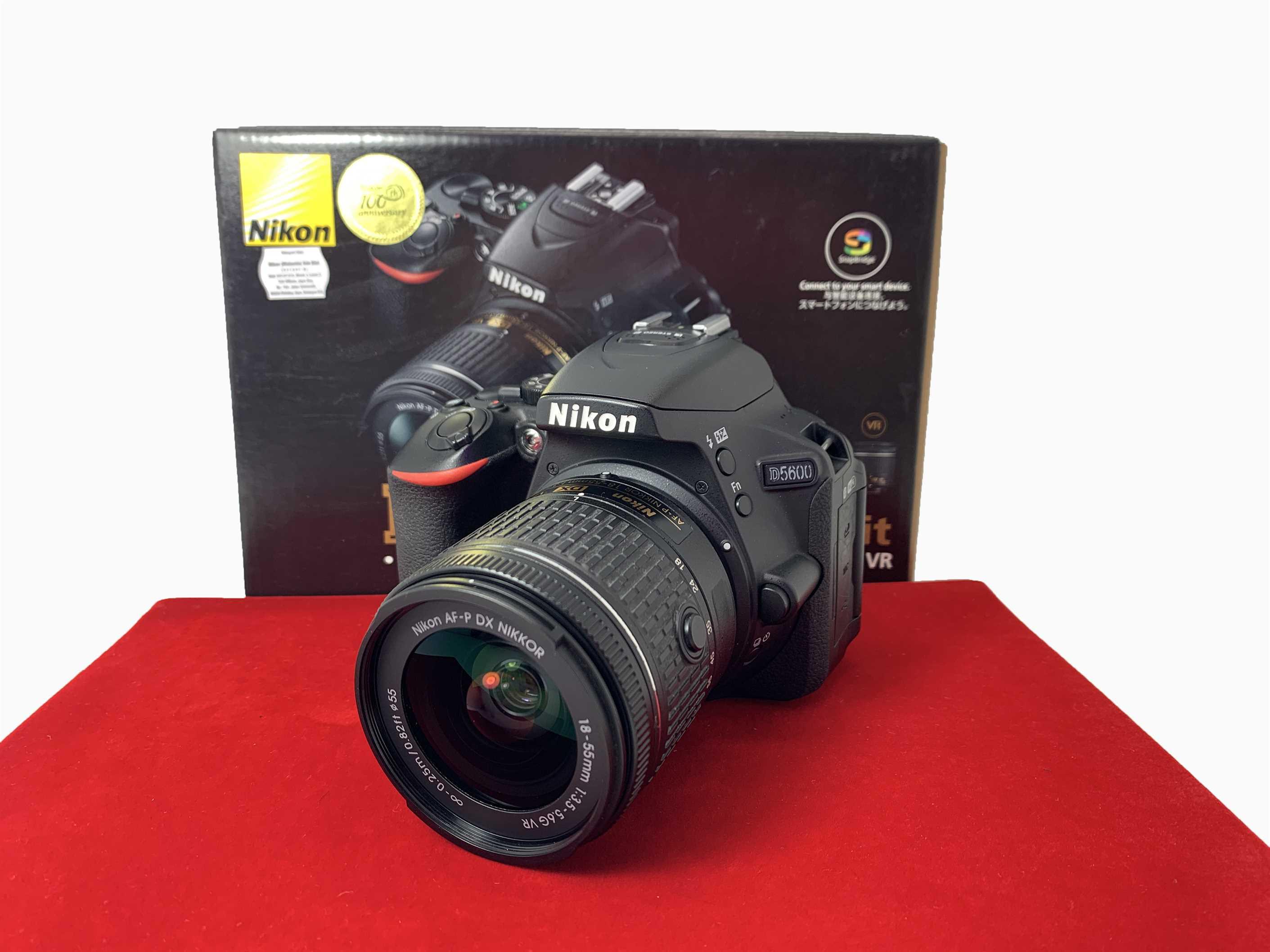 [USED-PJ33] Nikon D5600 Kit (18-55MM F3.5-5.6G AFP DX VR, 90% Like New Condition (S/N:8212094)