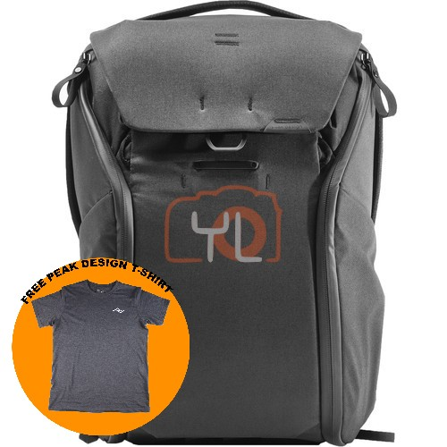Peak Design Everyday Backpack 20L_Black V2 (Free Peak Design T-Shirt)