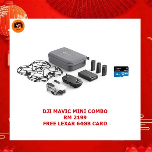 DJI Mavic Mini Fly More Combo + Lexar 64GB Micro SD Card