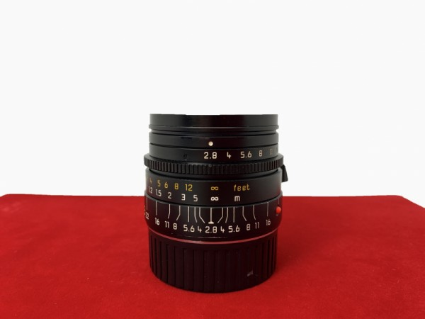 [USED-PJ33] Leica 28MM F2.8 Elmarit-M Lens, 85% Like New Condition (S/N:3671631)