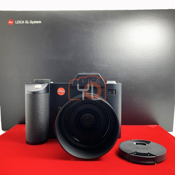 [USED-PJ33] Leica SL Camera With Sigma 45mm F2.8 DG DN (L-Mount), 90% Like New Condition (S/N:4968948)