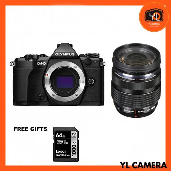 (Promotion) Olympus OM-D E-M5 Mark II + M. Zuiko 12-40mm F2.8 PRO - Black (Free Lexar 64GB SD Card 150MB)