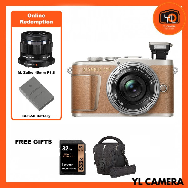 (Promotion) Olympus E-PL9 +  M.Zuiko 14-42mm EZ (Brown) [Free Lexar 32GB 95MB SD Card + Benro ELZ10 Camera Bag] [Online Redemption 45mm F1.8 + Extra Battery]