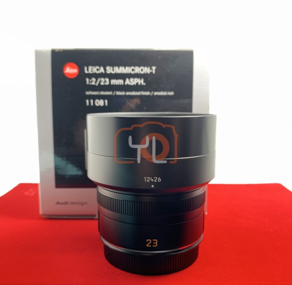 [USED-PJ33] Leica 23MM F2 Summicron-T Lens 11081, 95% Like New Condition (S/N:4267158)