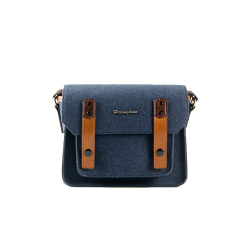 (SPECIAL DEAL) Herringbone Papas Pocket V3 Mini Camera Bag (Navy)