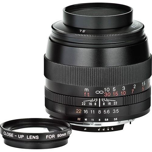Voigtlander 90mm F3.5 SL II APO-Lanthar Lens - Black (For Nikon F)