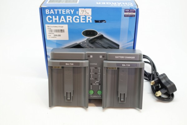 DBK Dual LCD Battery Charger EN-EL4  (Nikon Battery)
