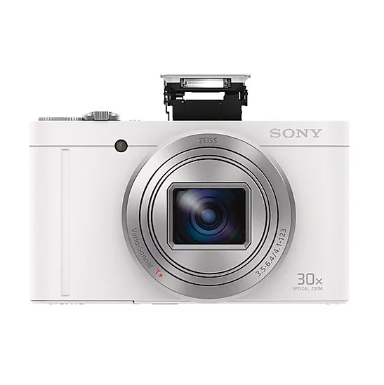 Sony DSC-WX500 Digital Camera - White [Free 16GB SD Card]