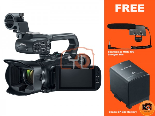 Canon DM-XA11 Compact Full HD Camcorder with HDMI and Composite Output (Free Sennheiser MKE 200 & BP-820 Battery)