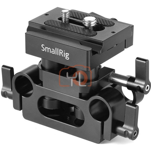SmallRig DBC2272B Universal Baseplate W/ 15mm LWS Rod Support