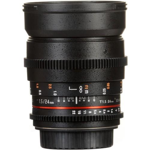 Samyang 24mm T1.5 VDSLRII Cine Lens for Pentax K