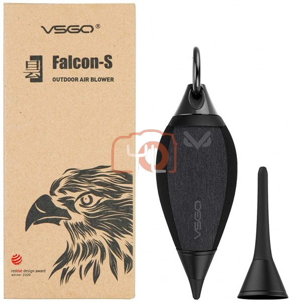VSGO V-B03E Falcon-S Outdoor Air Blower with Dust Filter Two Replaceable Short Long Nozzles for Camera Lens Sensor CCD CMOS Cleaning