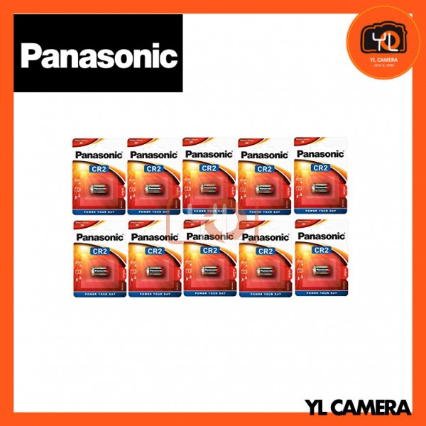 Panasonic CR2 Lithium Battery 10 Pack