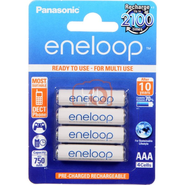 Panasonic Eneloop  AAA Rechargeable Batteries (800mAh, 4-Pack)