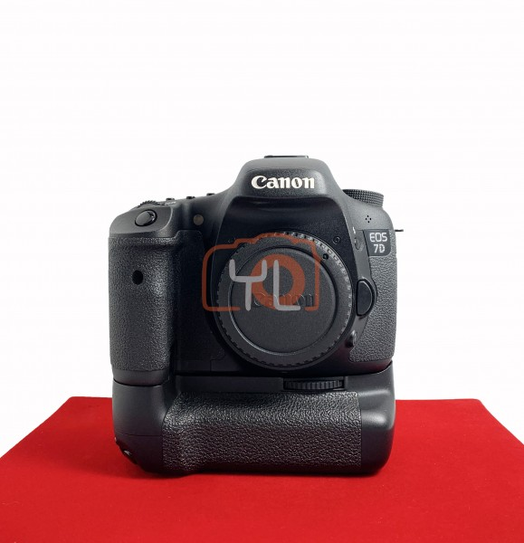 [USED @ YL LOW YAT]-Canon Eos 7D Body With BG-E7 Battery Grip (Shutter Court:14K), 90% Like New Condition (S/N:2481211559)