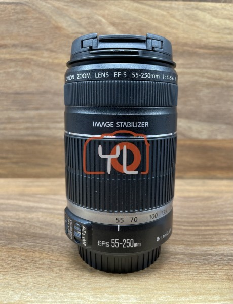 [USED @ YL LOW YAT]-Canon EF-S 55-250mm F4-5.6 IS Lens,95% Condition Like New,S/N:7517043234