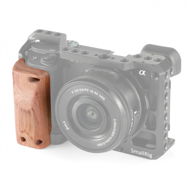 SmallRig APS2318 Wooden Handgrip for Sony A6400 Cage