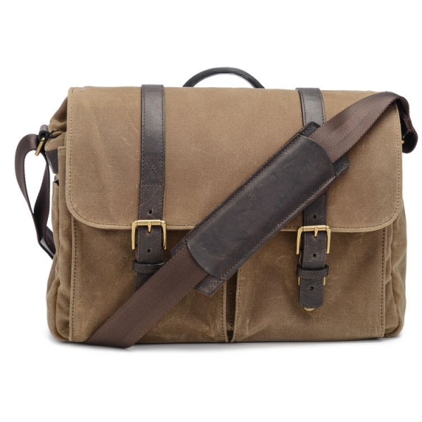 ONA Brixton Camera/Laptop Messenger Bag (Canvas, Field Tan)