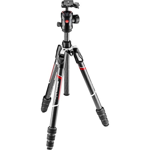 Manfrotto MKBFRTC4GT-BH Befree GT Travel Carbon Fiber Tripod with 496 Ball Head (Black)