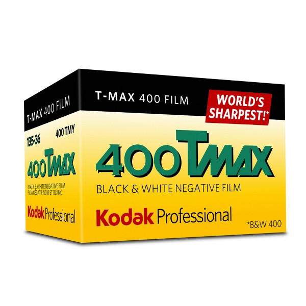 Kodak Professional T-Max 400 Black and White Negative Film (35mm Roll Film)