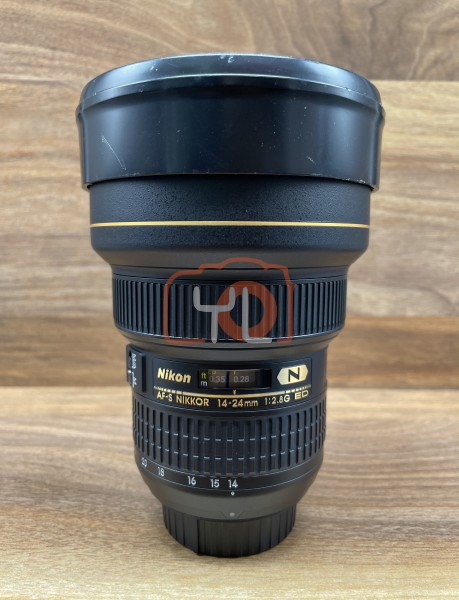 [USED @ YL LOW YAT]-Nikon AF-S 14-24mm F2.8G ED N Lens,90% Condition Like New,S/N:256628