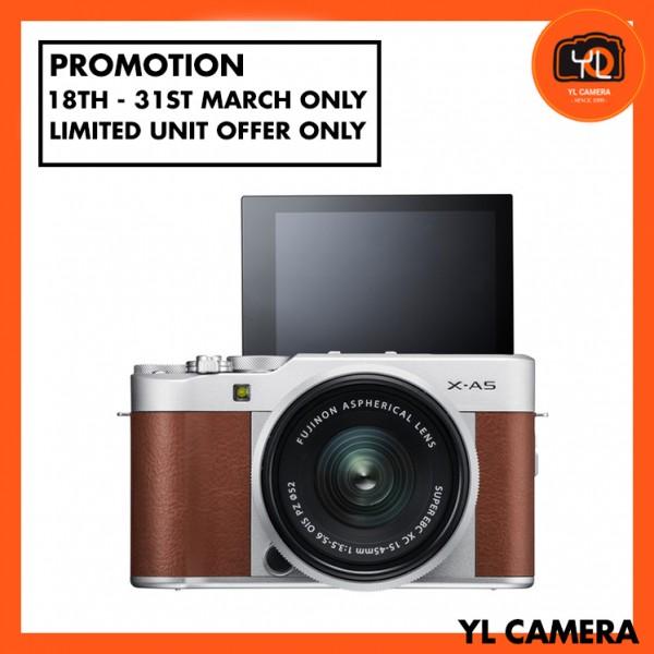 (Promotion) Fujifilm X-A5 + XC 15-45mm f/3.5-5.6 OIS PZ (Brown) [Free 32GB SD Card]
