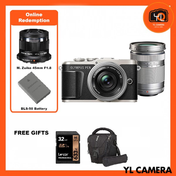 (Promotion) Olympus E-PL9 Twin Lens Kit [14-42mm + 40-150mm] (Black) [Free Lexar 32GB 95MB SD Card + Benro ELZ10 Camera Bag] [Online Redemption 45mm F1.8 + Extra Battery]
