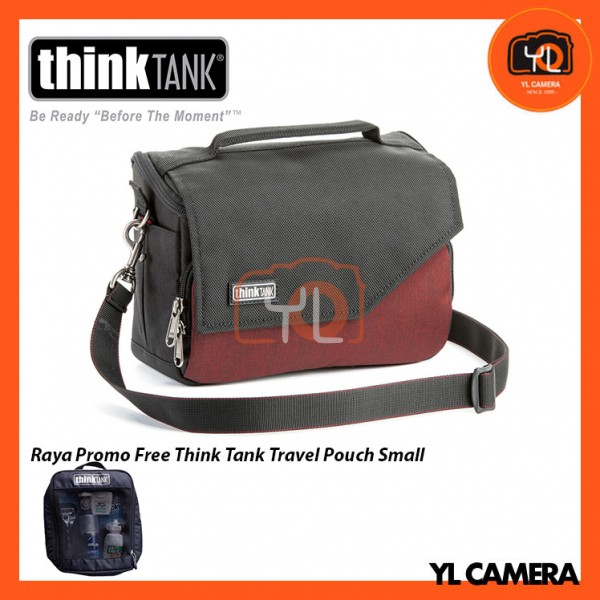 Think Tank Photo Mirrorless Mover 20 Camera Bag (Deep Red) Free Think Tank Photo Travel Pouch - Small