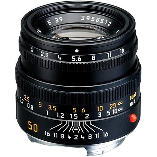 Leica 50mm F2 Summicron-M - Black (11826)