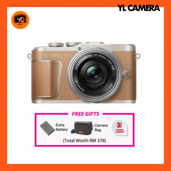(Promotion) Olympus E-PL9 +  M.Zuiko 14-42mm EZ (Brown) [Free Lexar 32GB 95MB SD Card + Benro ELZ10 Camera Bag]