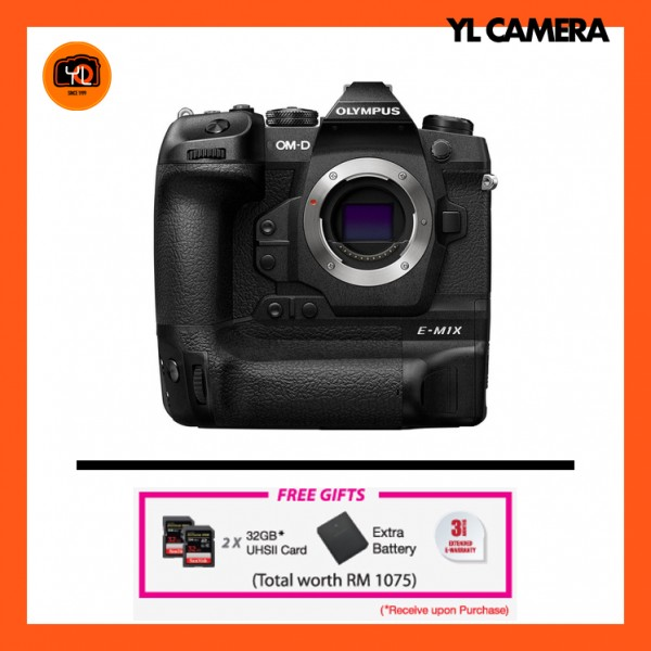 (Promotion) Olympus OM-D E-M1X [Free X2 SanDisk 32GB 300MB/s SD Card + Extra Battery]