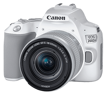 Canon EOS 200D II + EF-S 18-55mm f/3.5-5.6 IS STM Lens (White) [Free 32GB SD Card + Camera Bag]