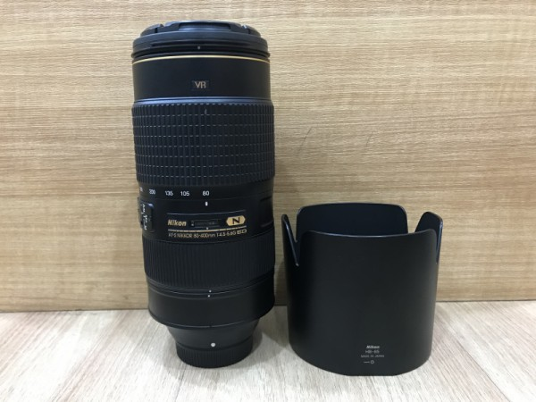 (USED YL LOW YAT)-Nikon AF-S 80-400mm F4.5-5.6G ED NIKKOR Lens,90% Condition Like New,S/N:256268