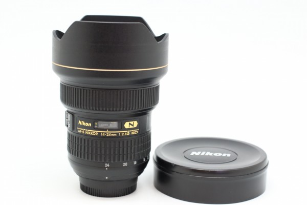 [USED-PUDU] NIKON 14-24MM F2.8G AFS ED 90%LIKE NEW CONDITION SN:285385