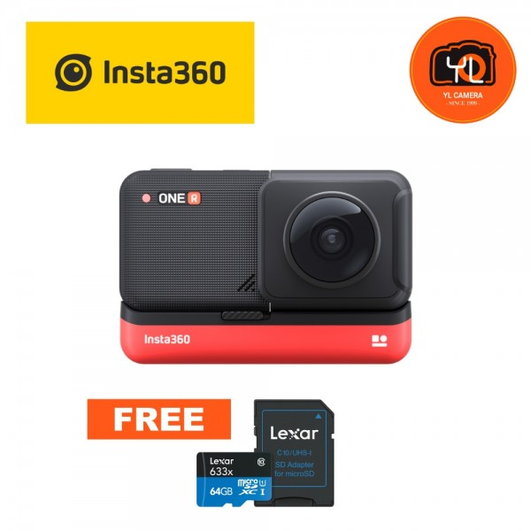 Insta360 ONE R 360 Edition (Free 64GB microSD Card)