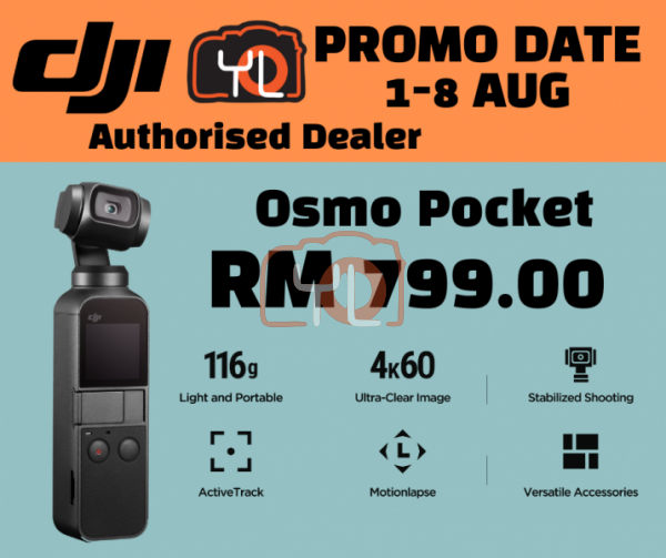 DJI Osmo Pocket (FREE Lexar 32GB microSD Card)