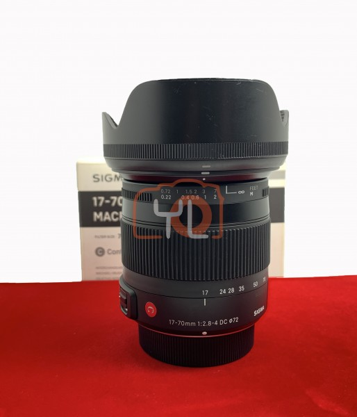 [USED-PJ33] Sigma 17-70mm f/2.8-4 DC Macro OS HSM Contemporary Lens (Nikon), 95% Like New Condition (S/N:50027372)