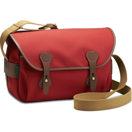 Billingham S4 Shoulder Bag (Burgundy Canvas/Chocolate Leather)