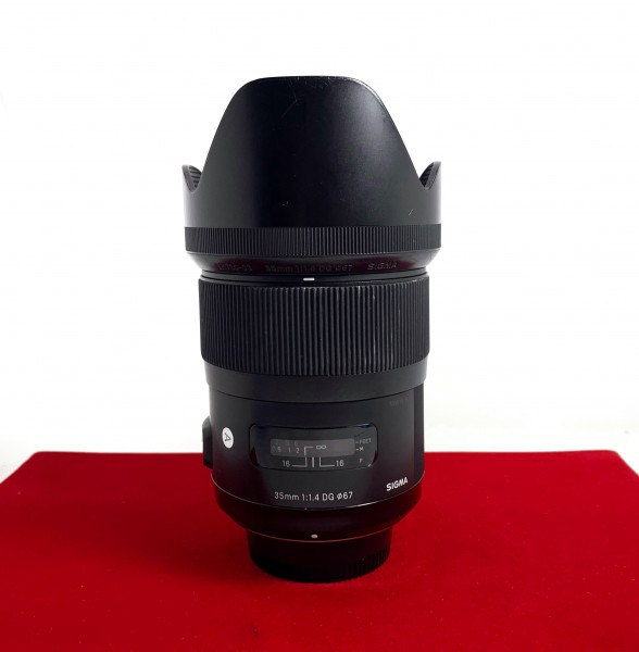 [USED-PJ33] Sigma 35MM F1.4 DG ART (Nikon), 80% Like New Condition (S/N:50981679)